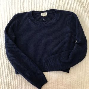 Pacsun | Navy Cropped Sweater